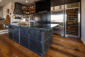 Kitchen Island - blackened steel