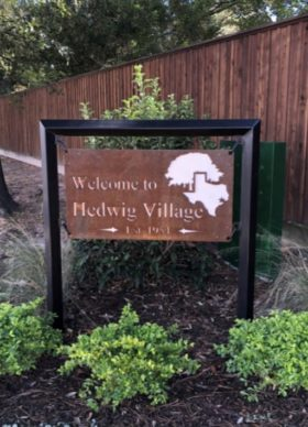 City of Hedwig Village - Rustic Sign